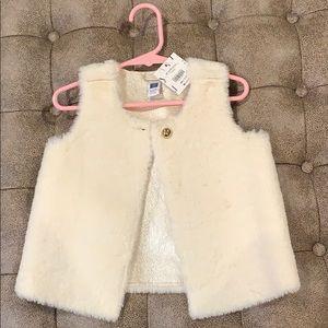 Faux fur vest jacket for toddler